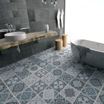 Vintage Blue Gray Floor Tile Decals