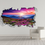 Purple Landscape 3D Wallpaper