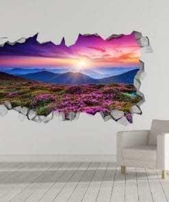 Purple Landscape 3D Wallpaper