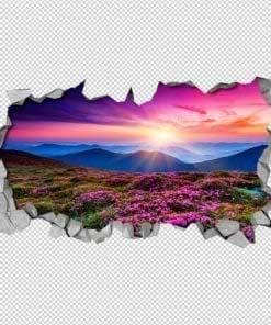 Purple Landscape 3D Wallpaper 2