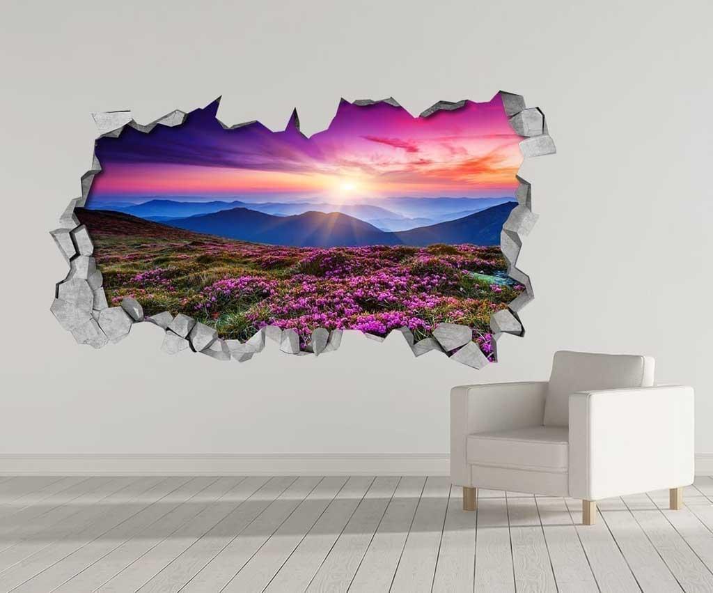 purple landscape 3d wallpaper. Black Bedroom Furniture Sets. Home Design Ideas