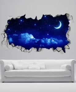 Starry Moon 3D Wallpaper