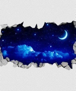 Starry Moon 3D Wallpaper 2