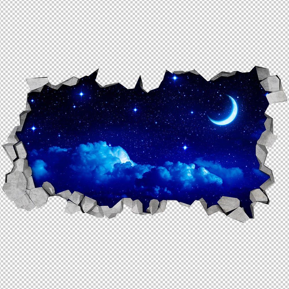 Sternenhimmel Mond Tapeten 3d Moonwallstickerscom