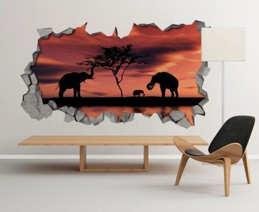 African sunset 3d wallpaper