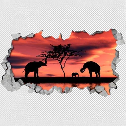 African sunset 3d wallpaper 2