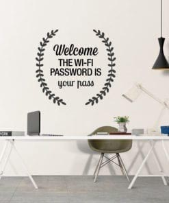 Wifi Password Customizable Decal