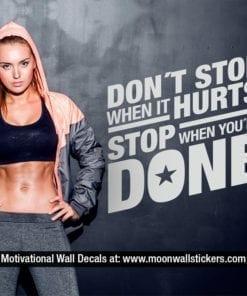Workout Motivation Decal
