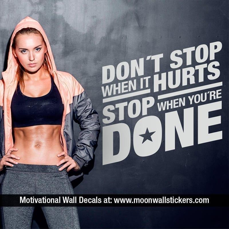 Workout Motivation Decal - Moonwallstickers.com