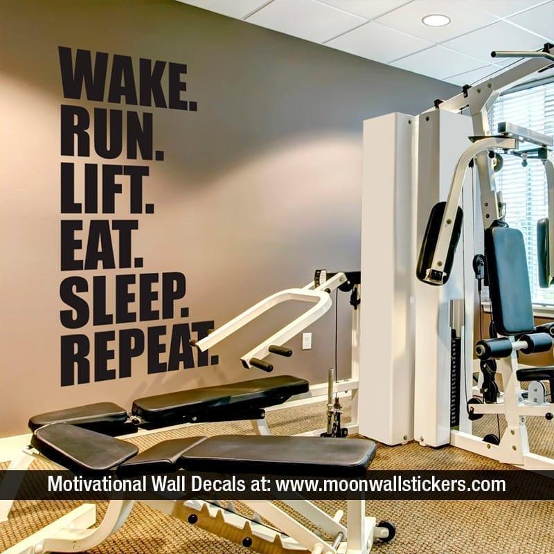 Gym wall sticker moonwallstickers