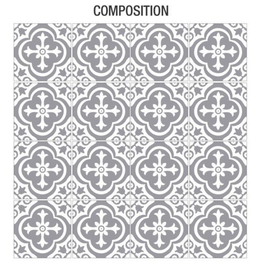 Moroccan Floor Stickers - Composition
