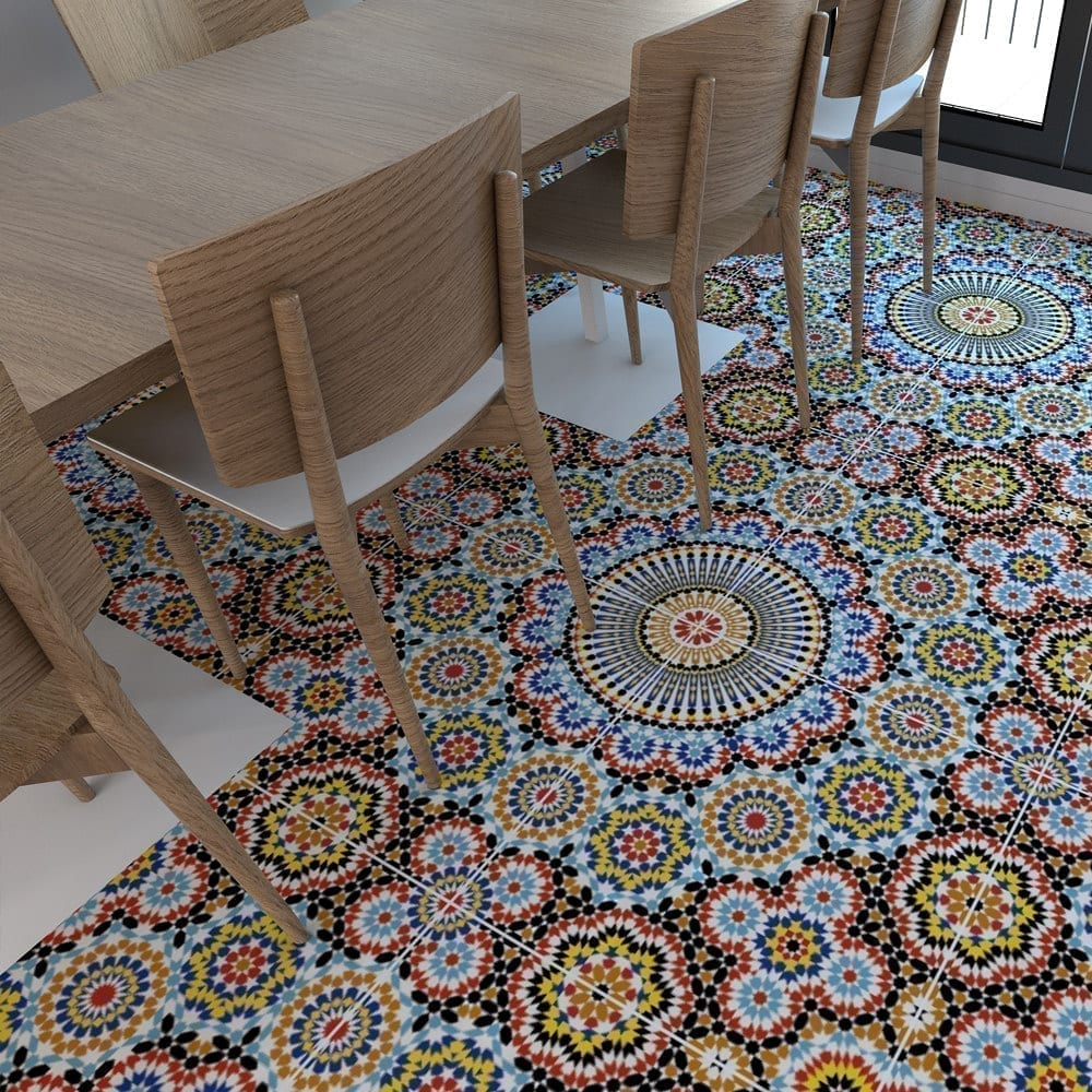 Wonderful Moroccan Floor Tile Stickers