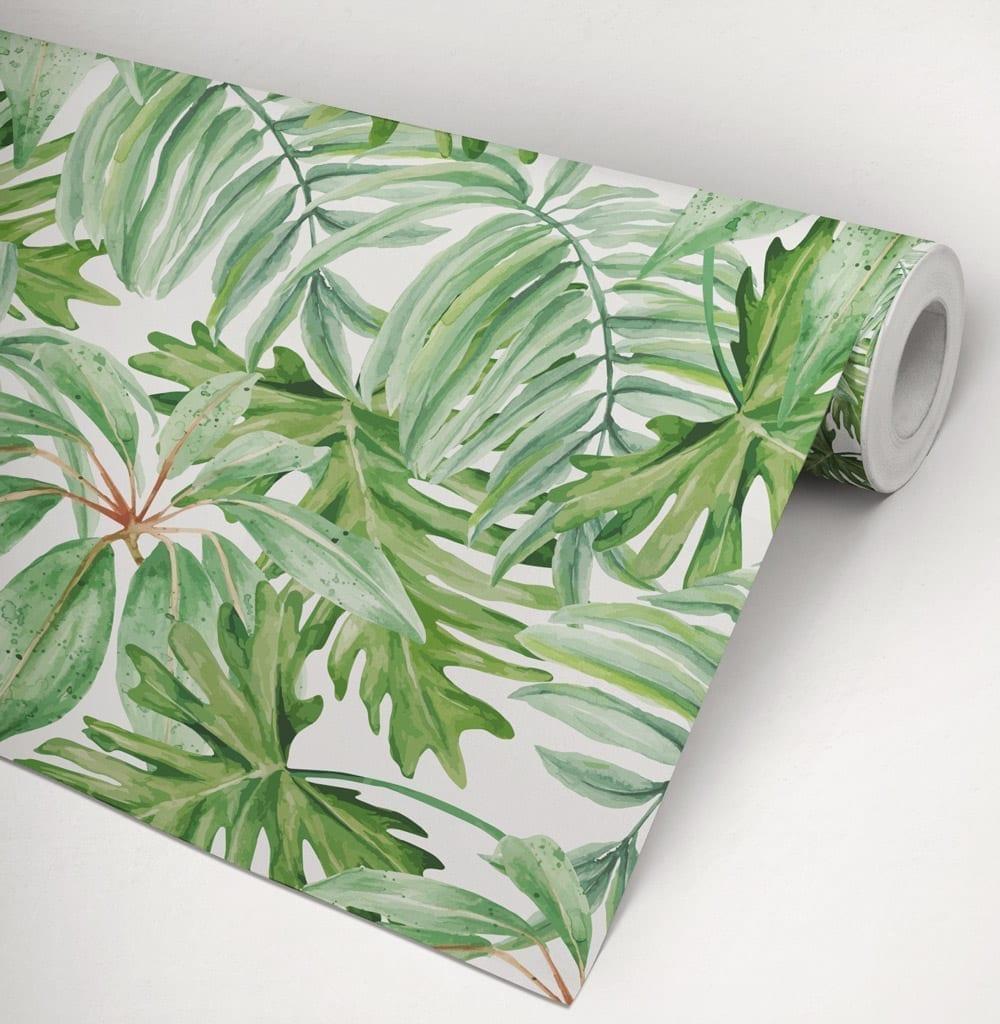 Bananenblad behang - Behang hoofdeinde ...