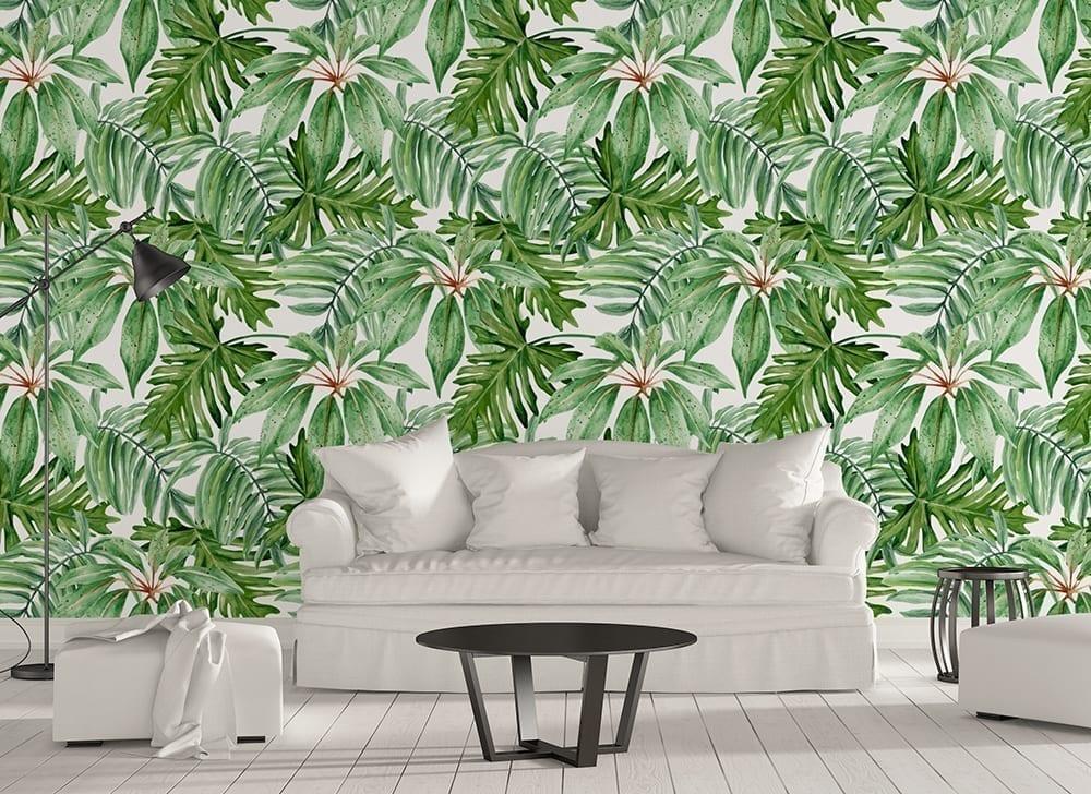 Banana Leaf Wallpaper Moonwallstickers Com