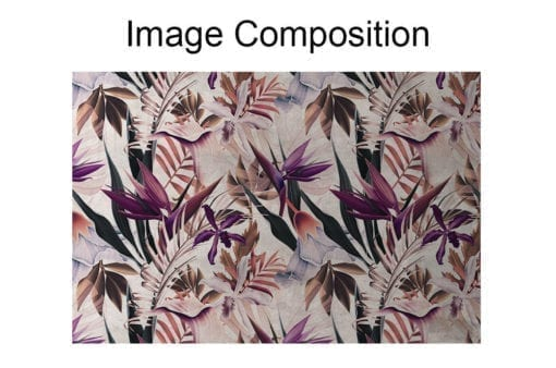 Floral Repositionable Wallpaper Composition