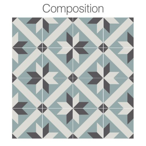 French Traditional Tile Decals - Composition
