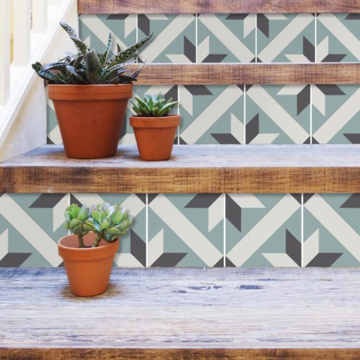 French Traditional Tile Decals - Stairs