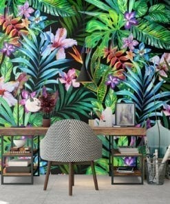 Tropical Self Adhesive Fabric