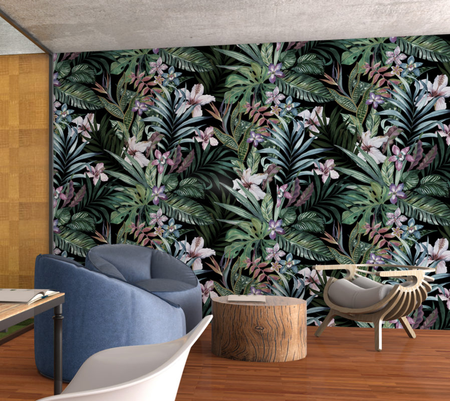 Botanical Peel And Stick Wallpaper Moonwallstickers Com
