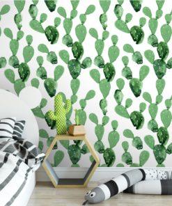 Cactus Papier Peint Amovible Moonwallstickerscom