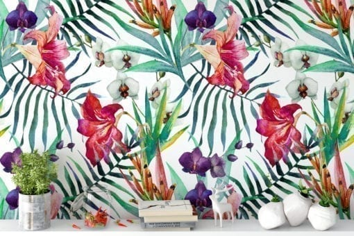 Watercolor Orchids Wallpaper