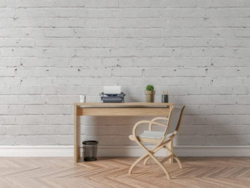 White Bricks Wallpaper