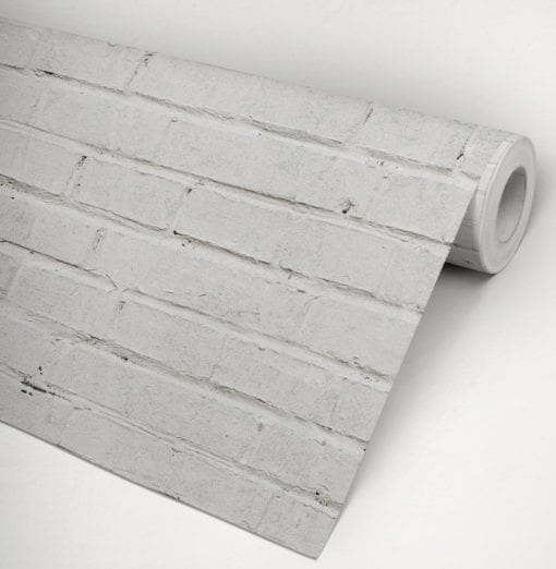 White Bricks Wallpaper Roll