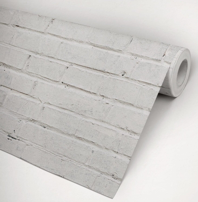 White Bricks Wallpaper Moonwallstickers