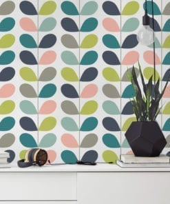 Mid Century Leaves Wallpaper
