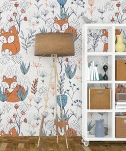 Nursery Fox Wallpaper