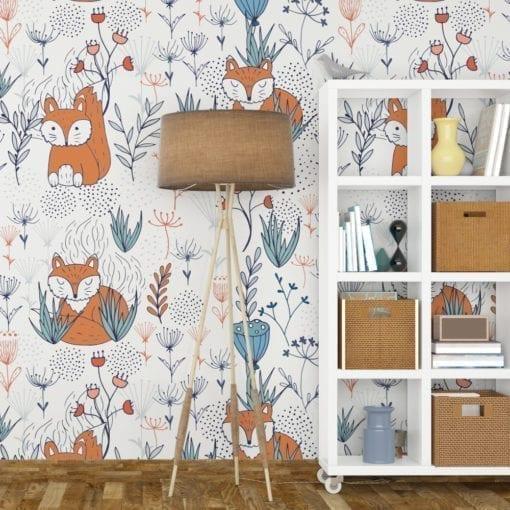 Nursery Fox Wallpaper