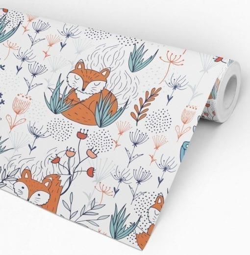 Nursery Fox Wallpaper Roll