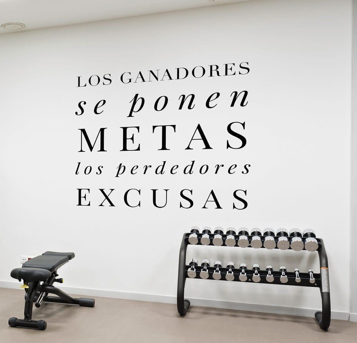 Los ganadores imagenes motivadoras para el gym for Frases en vinilo para pared