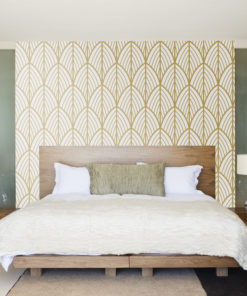 Art Deco Leaves Removable Wallpaper Moonwallstickers Com