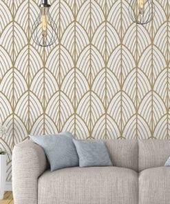 Art Deco Leaves Removable Wallpaper