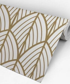 Art Deco Leaves Removable Wallpaper Roll