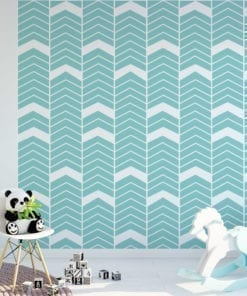 Chevron Blue Wall Art
