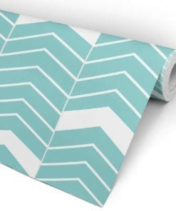 Chevron Blue Wall Art Roll