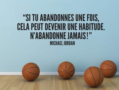Citation M. Jordan Si Tu Abandonnes Une Fois