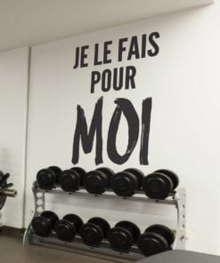 Autocollants De Motivation Gymnase Je Le Fais Pour Moi