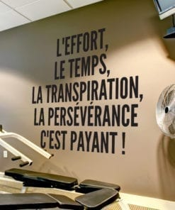 L'effort, Le Temps, La Transpiration Thème De La Musculation