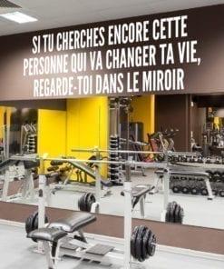 Autocollants de motivation Regarde Toi Dans Le Miroir