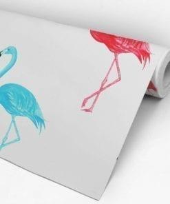Flamingo Watercolor Wallpaper Roll