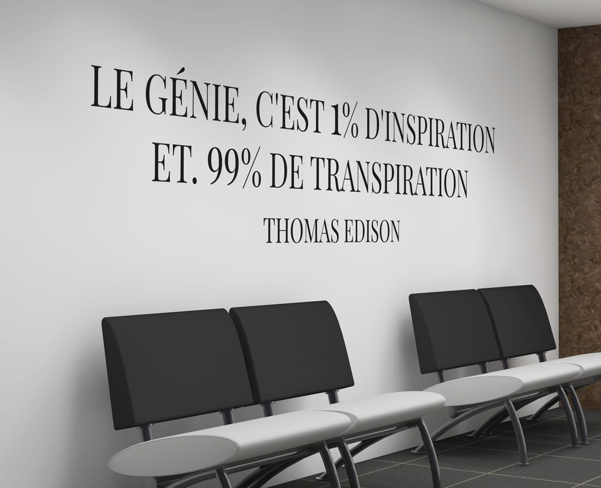 Thomas edison citations deco bureau design for Postuler maison du monde