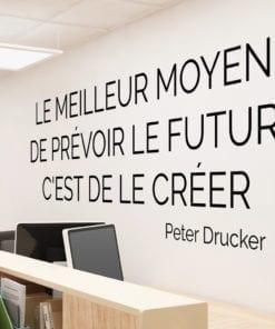 Peter Drucker Citations Déco Pour Bureau