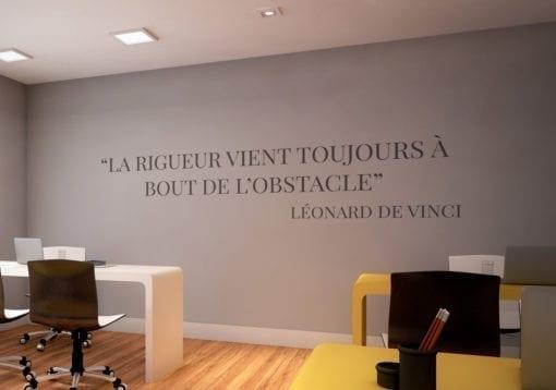 Leonardo Da Vinci Citations Bureau Déco