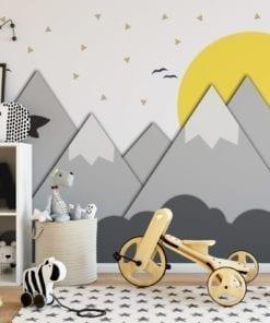 Mountains and Sun Nursery Decor Murals
