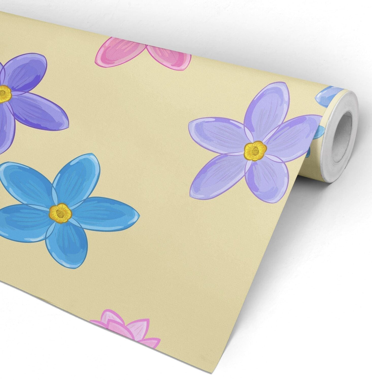 Nursery watercolor flowers peel and stick wallpaper Floral peel and stick wallpaper