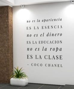 Vinilos Con Citas Célebres Es La Clase Coco Chanel