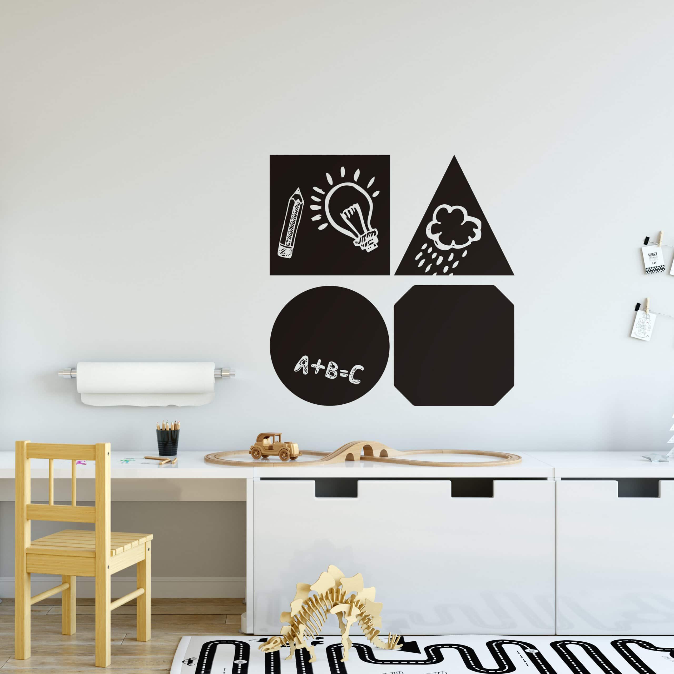 Parete Dipinta A Lavagna lavagna forme geometriche